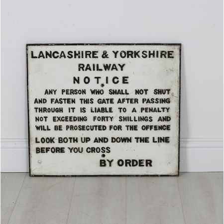 Cast iron railway sign