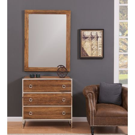 Malmo 3 Drawer Chest & Mirror