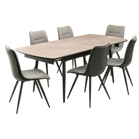 Nuna Extendable Dining Table + 6 Chairs