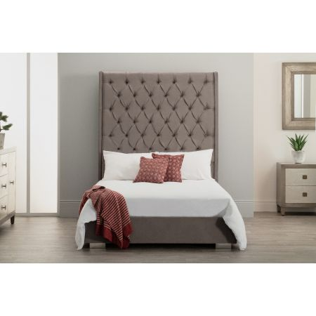 Nevada Bed - Double - Grey