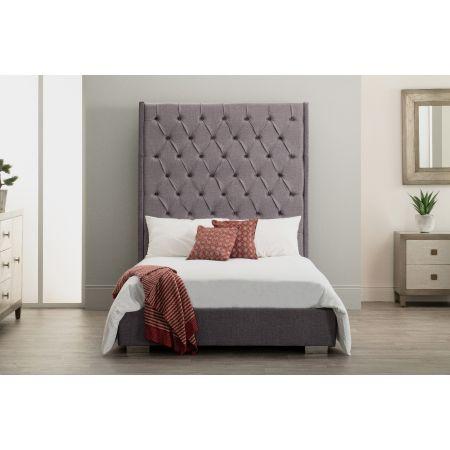 Nevada Bed - Double - Slate Grey