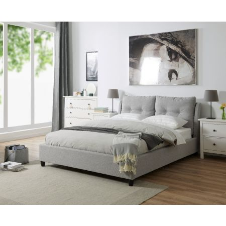 4.6ft Double Oslo Bed Grey