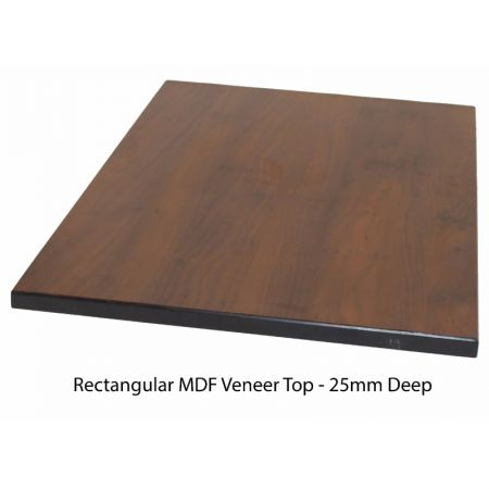 Rectangular MDF Veneer Top