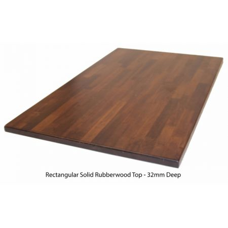 Rectangular Solid Rubberwood Top