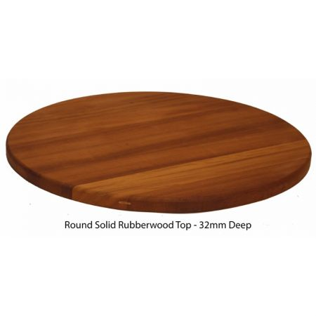 Round Solid Rubberwood Top