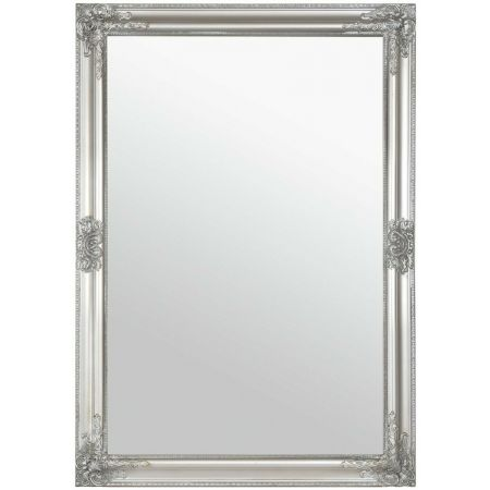 Charlotte Overmantle Mirror-Antique Silver 72x102cm (Set of 2)