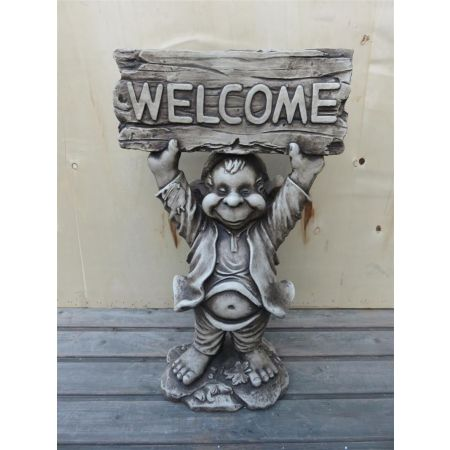 Welcome Hands Up Garden Gnome