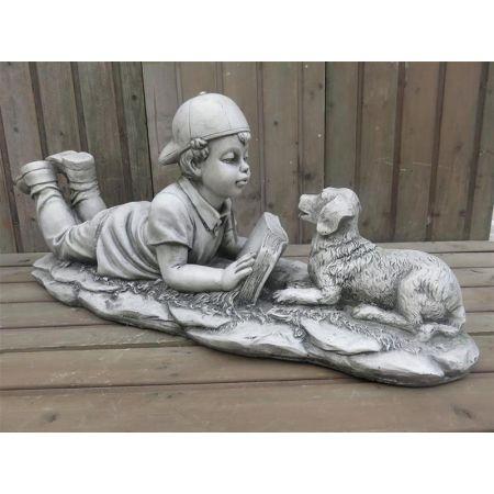 Boy & Dog Playing