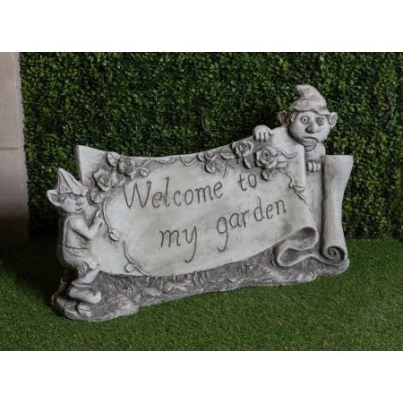 'Welcome to my Garden' Gnome Plaque