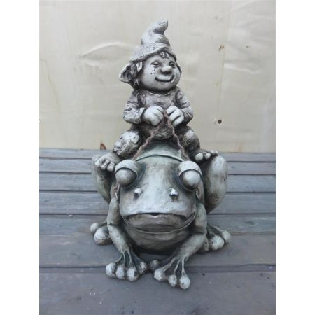Gnome On Frog
