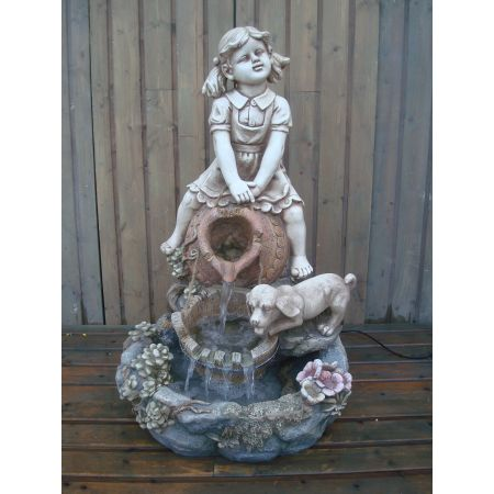 Girl & Dog Water Feature
