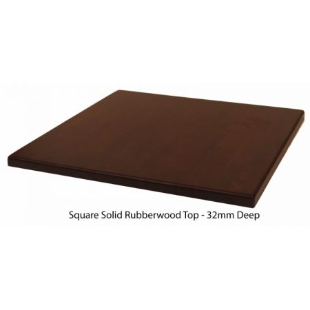 Square Solid Rubberwood
