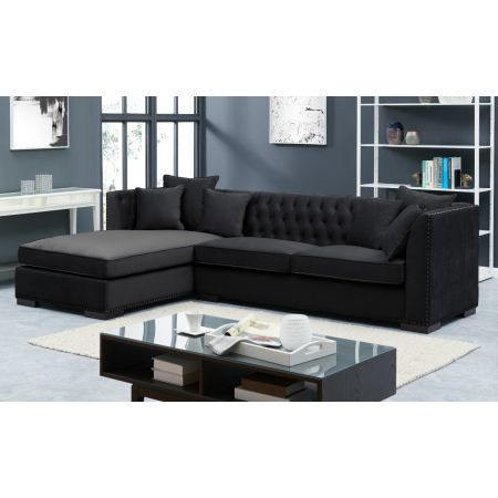 Black Chesterfield Corner Suite-Left