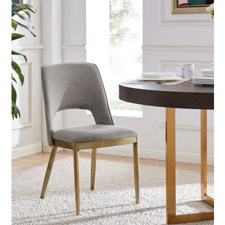 Morgan Dining Chair - Beige Linen (Set of 2)