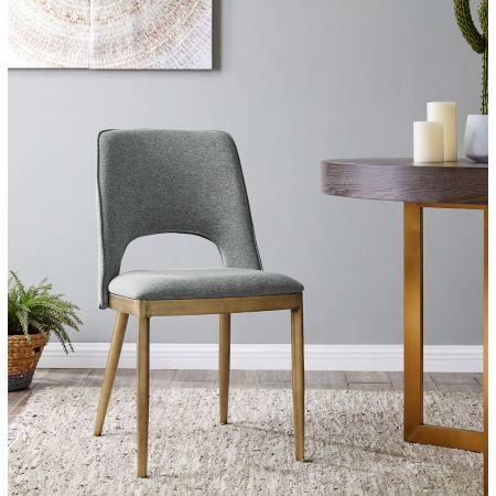Morgan Dining Chair - Grey Linen (Set of 2)