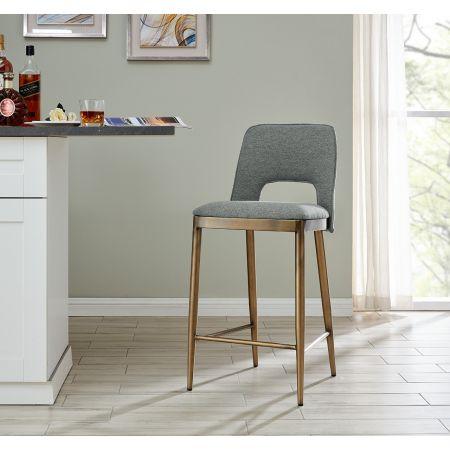 Morgan Barstool - Grey Linen