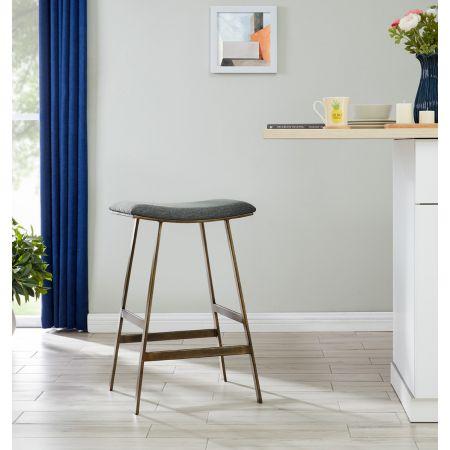 Dixon Barstool - Grey Linen
