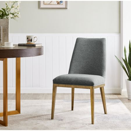 Bay Dining Chair - Grey Linen
