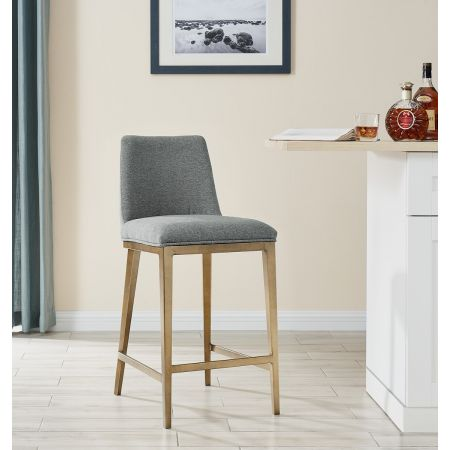Bay Barstool - Grey Linen