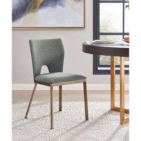 Ella Dining Chair - Grey Linen