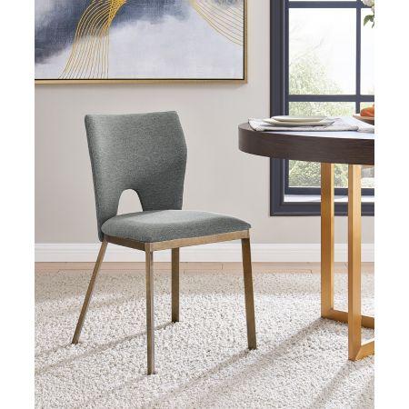 Ella Dining Chair - Grey Linen