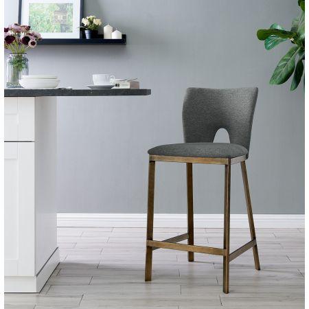 Ella Barstool - Grey Linen