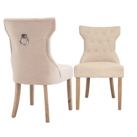 Kim Knocker Chair Beige Linen
