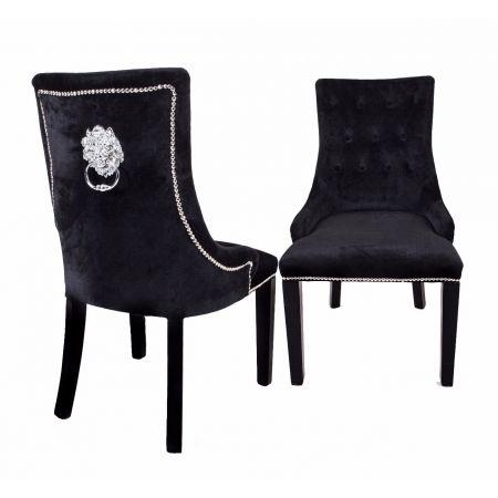 Lion Dining Chair Black